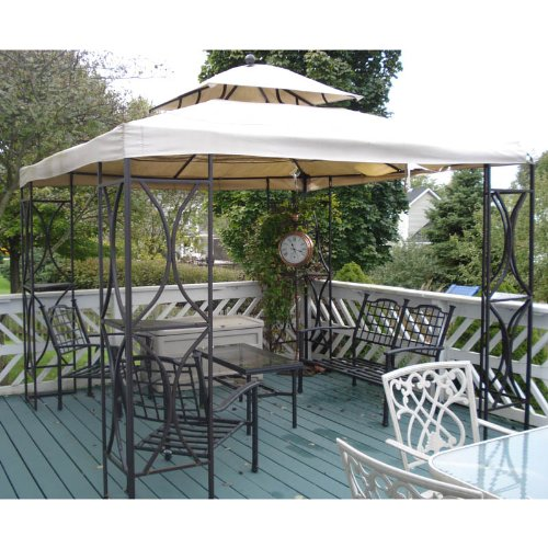 (Garden Winds Square Finial Ball Top Gazebo Replacement Canopy Top Cover)