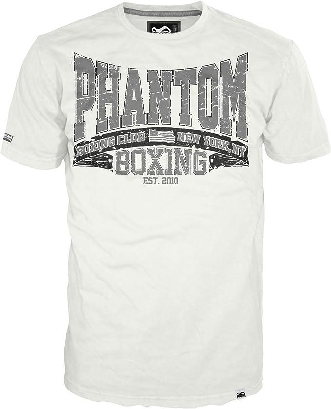 Phantom Boxing Club – Camiseta Hombre, Hombre, T-Shirt Boxing Club - Blanc, XXX-Large, Blanco, XXXL (Talla del Fabricante: XXX-Large): Amazon.es: Ropa y accesorios
