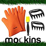Mockins All In One Barbecue Set With Silicone BBQ Gloves Meat Claw Shredders and Silicone Baster Brush - 3 in 1 Silicone Heat Resistant Grilling Accessories For Your Indoor & Outdoor Cooking Needs … …