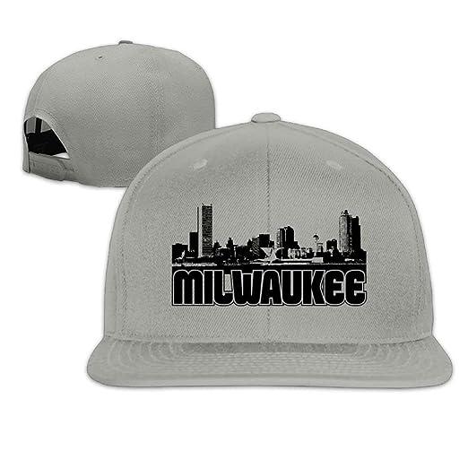Milwaukee Snapback Unisex Adjustable Flat Bill Visor Hip-Hop Hat