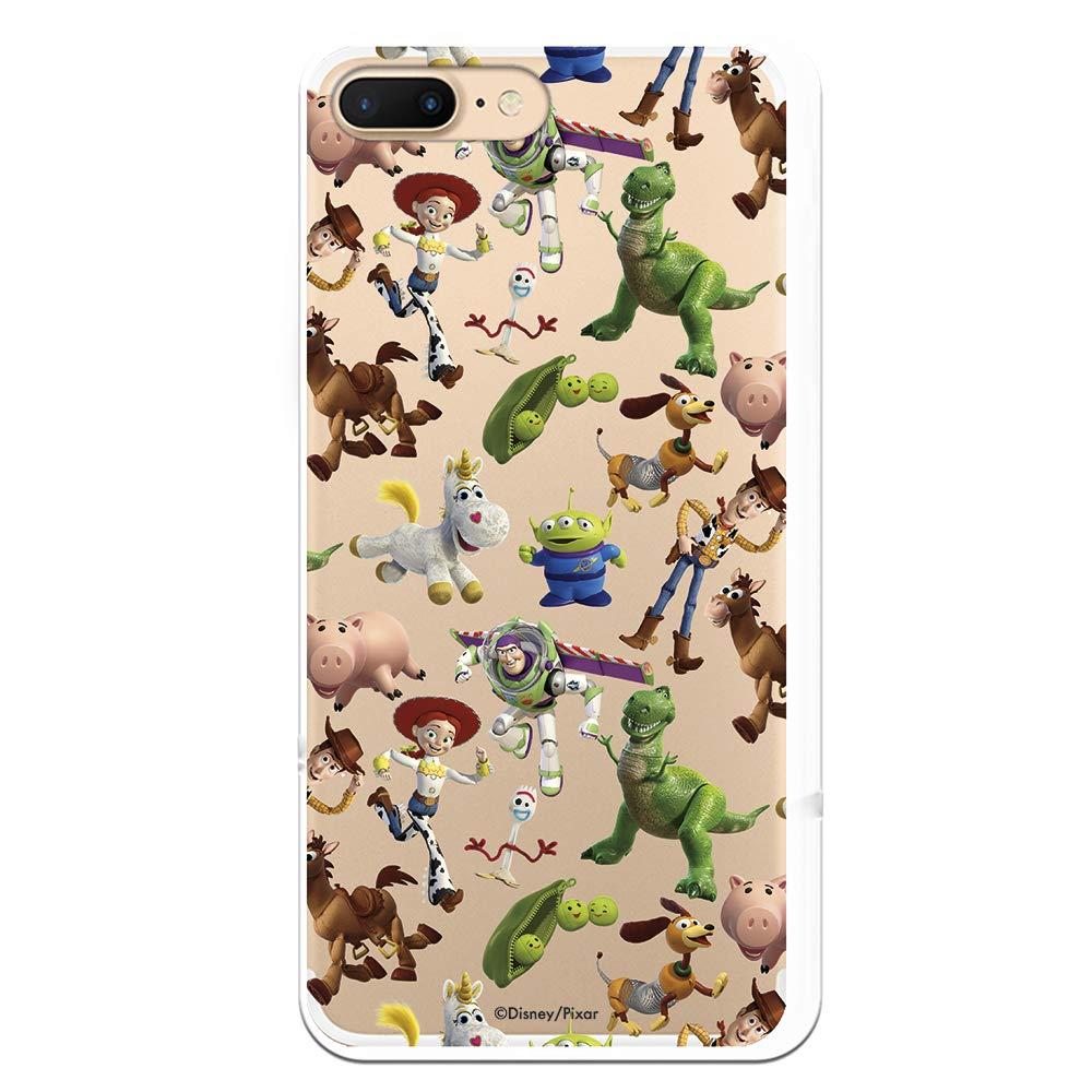 Funda para iPhone 7 Plus - iPhone 8 Plus de Toy Story. Carcasa con Las Siluetas de los Personajes de Toy Story, una Funda con Licencia Oficial de ...