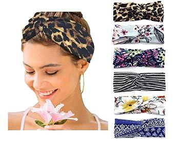 Amazon.com : 6 Pack Women's Headbands Boho Floral Print Turban Head Wrap  Hair Bands (Set 3) : Beauty