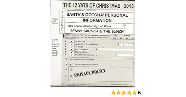 Benny Grunch The Bunch The 12 Yats Of Christmas 2013 Amazon Com Music