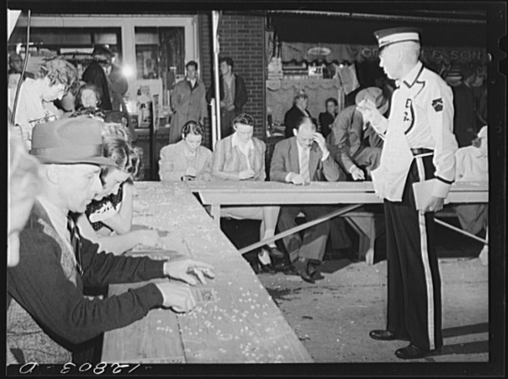 1941 Photo Bingo game, July 4th celebration. State College, Pennsylvania Location: Centre County, Pennsylvania, State College by Historic Photos