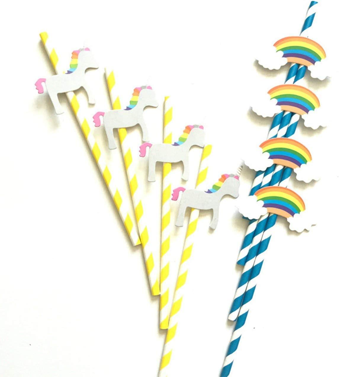 Pudincoco Pastel de cumpleaños Decoración Suministros para Fiestas Adornos Decorativos Caballo de Madera Nube Fotografía de Paja con 8 Piezas