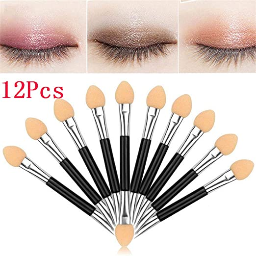 Makeup Double Head Eye Shadow Brush Eye Shadow Sponge Brushes Applicator Cosmetic Beauty Tool