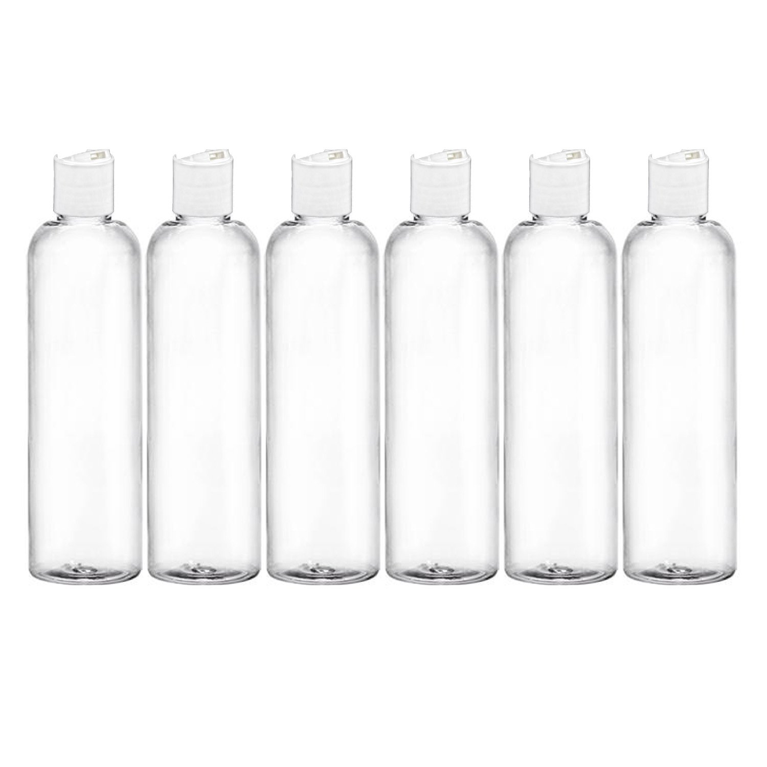 b0571d068b52 Details about 4 Oz Empty Travel Container Squeeze Disc Cap Bottles BPA Free  PET Clear Pack-6