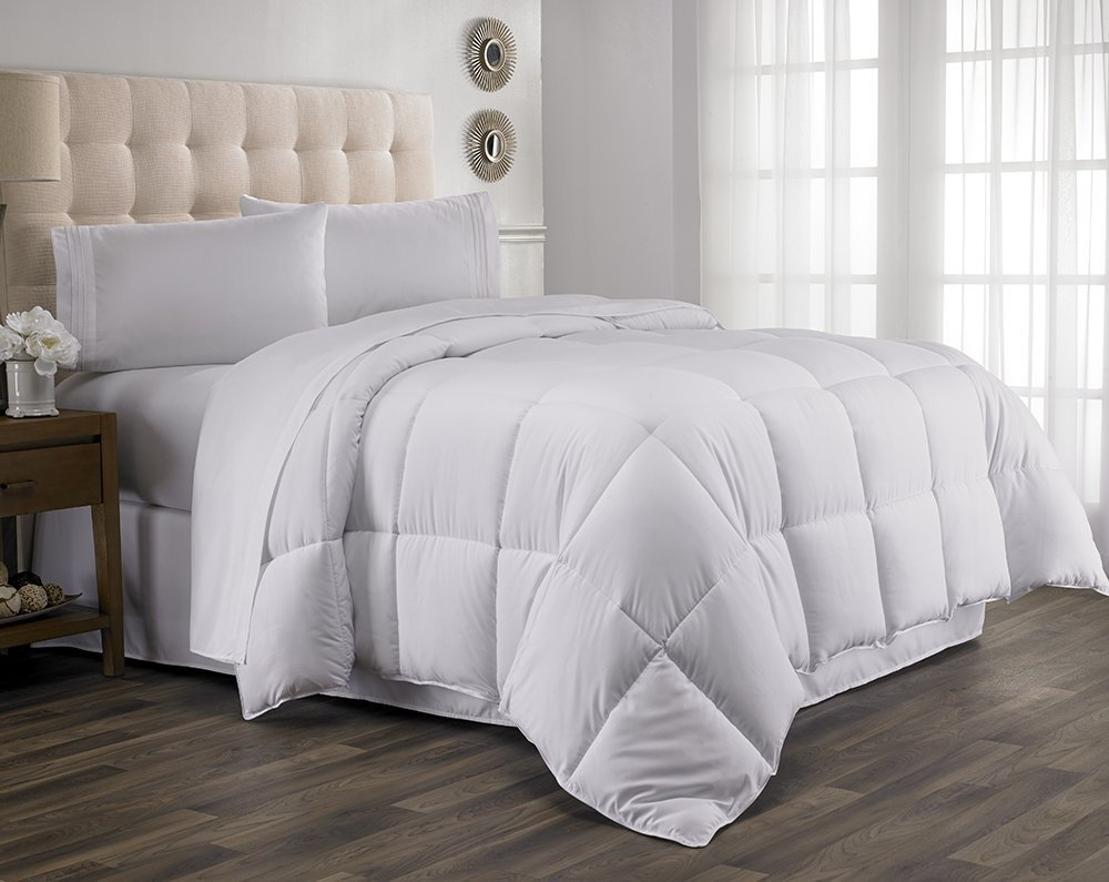 Extravagant Collection Plush Fiberfill Goose Down Alternative Comforter Duvet Inserts King/Cal-King White Solid