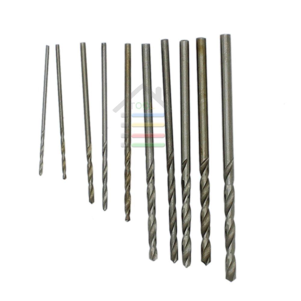 New 10pcs Jobbers Mini Micro HSS Twist Drill Bits 0.5-3mm for Wood PCB Presses Drilling Dremel Rotary Tools