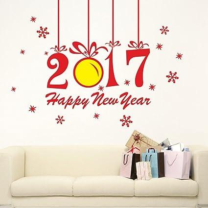 Christmas Pared Pegatinas xinan nuevo año 2017 feliz navidad pared pegatinas Home Shop Windows Decoración extraíble
