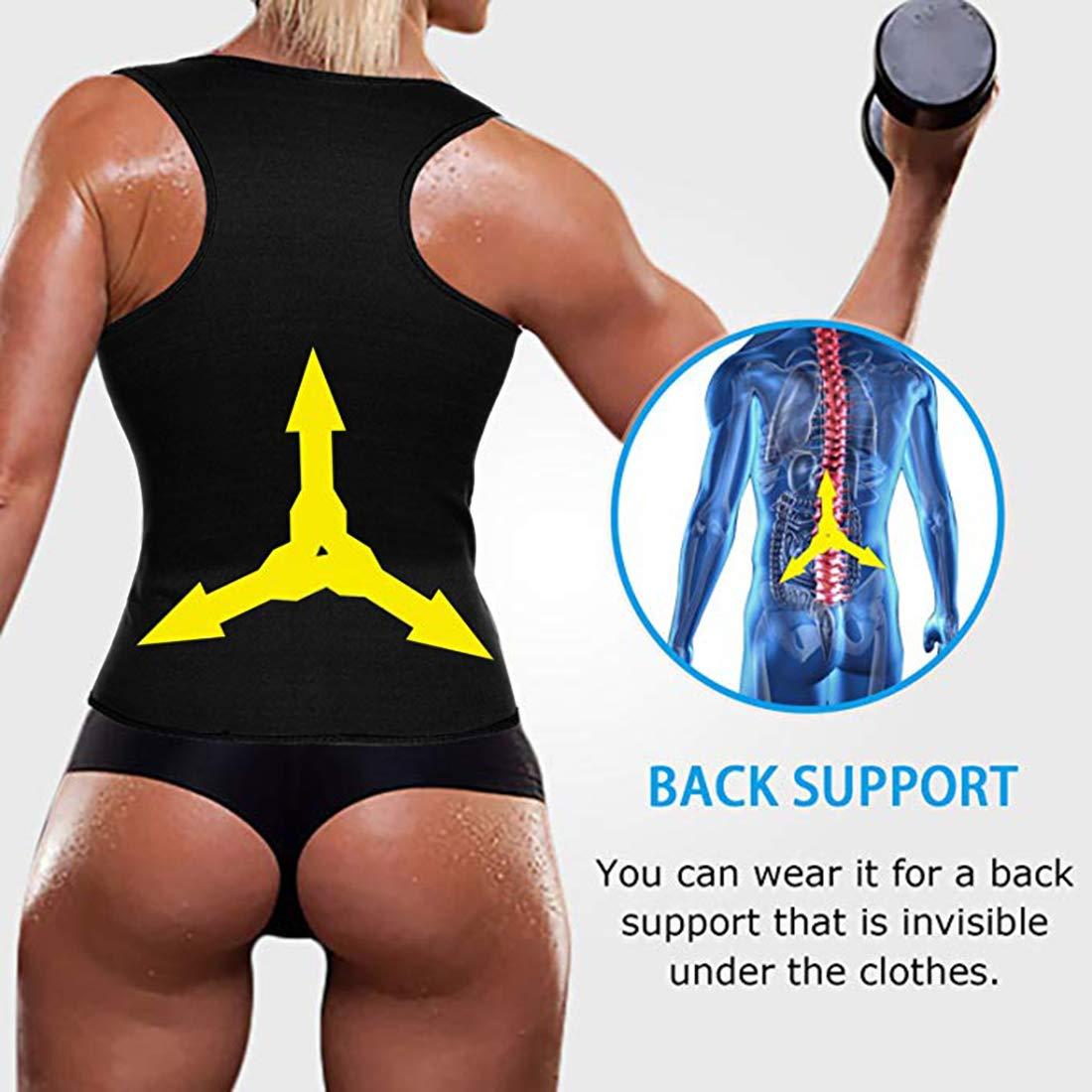 Litthing Sauna para Mujer Chaleco de Entrenamiento Chaleco de cors/é Cintura de Entrenamiento Cors/é Camisa para Adelgazar Gimnasio Cinturones para Bajar de Peso