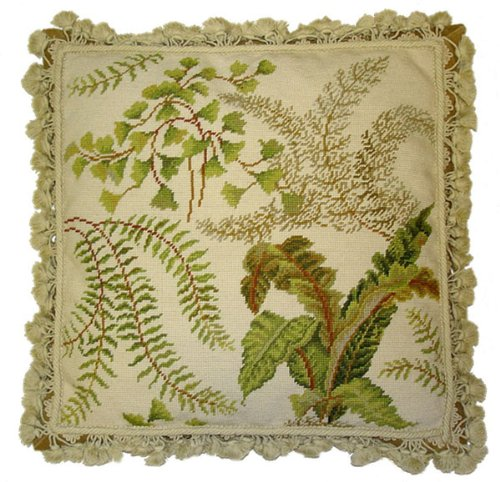(Deluxe Pillows Study in Fern - 20 x 20 in. needlepoint pillow)
