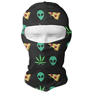 Pizza Alien Weed Balaclava UV Protection Windproof Ski Face Masks for Cycling Outdoor Sports Full Face Mask Breathable