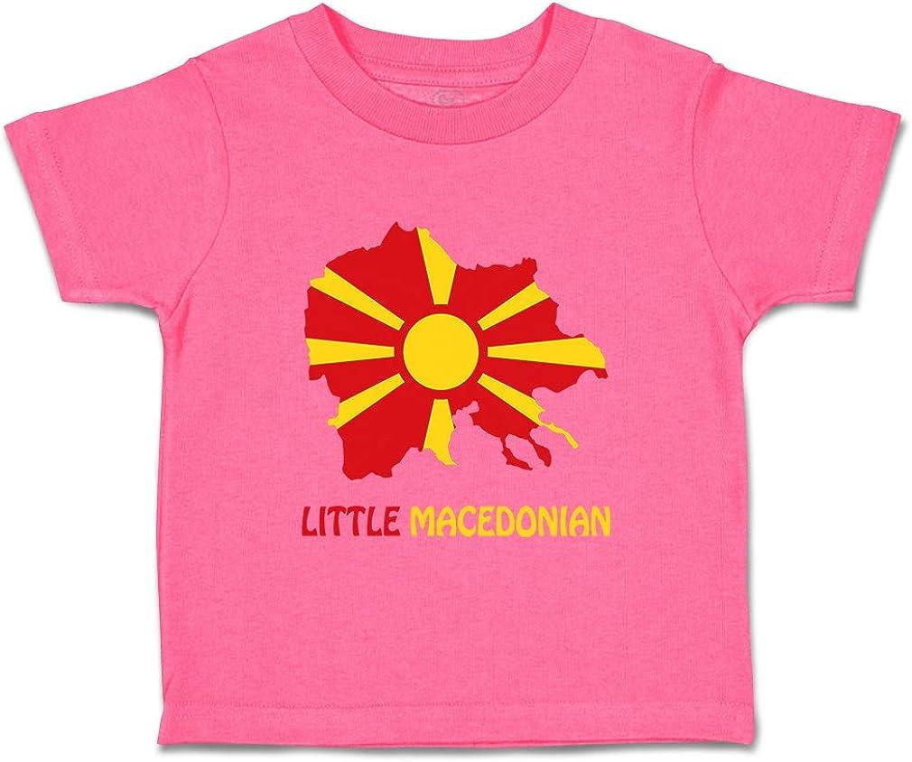Custom Baby /& Toddler T-Shirt Little Macedonian Cotton Boy Girl Clothes