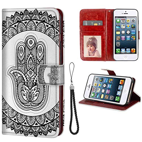 mophinda Wallet Case for iPhone 5 and iPhone SE and iPhone 5S (5.5