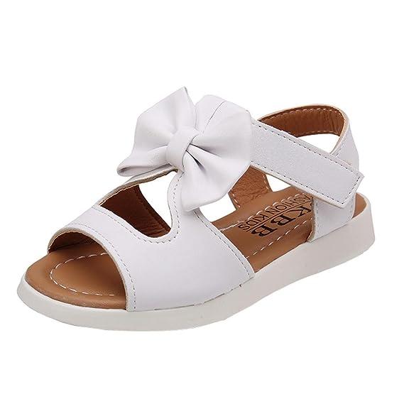 Sandalias niña Zapatos bebés Niños Sandalias de Verano para niñas Chica Zapatillas Planas Bowknot Zapatos Princesa Calzado