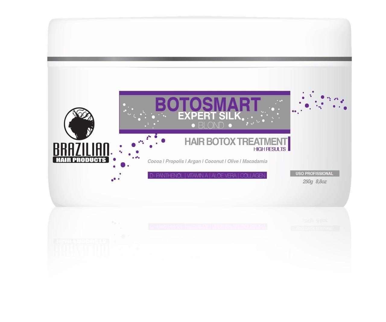 Brazilian BotoSmart Expert Silk Blond Hair with Macadamia 250 Milliliter brazilianhairproducts