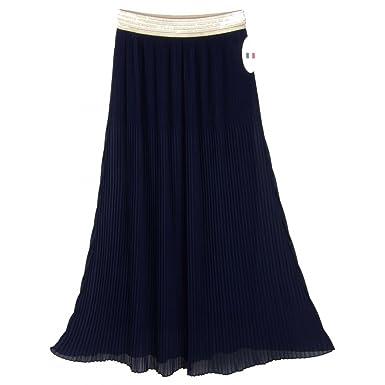 Paulina arrugada falda larga negro: Amazon.es: Ropa y accesorios