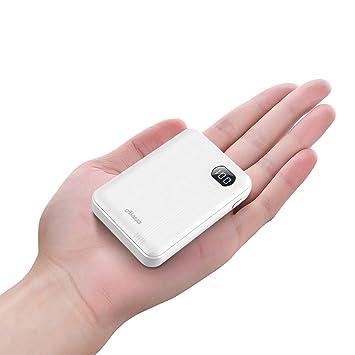 AINOPE Bateria Externa 10000mAh/20000mAh, Cargador Móvil Portátil Power Bank para con 2 Salida USB Pantalla LCD para iPhone iPad Dispositivos (10000mAh, ...