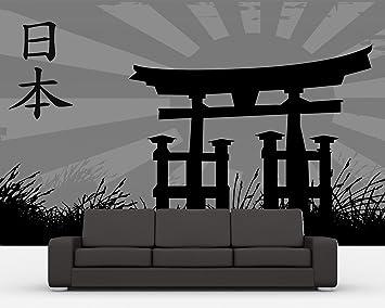Bilderdepot24 Papier Peint Intisse Style Japonais Noir Et Blanc
