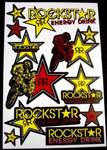 Motorcross stickers  RSYB2 boys Rockstar bmx bike Scooter Moped army Decal Stickers