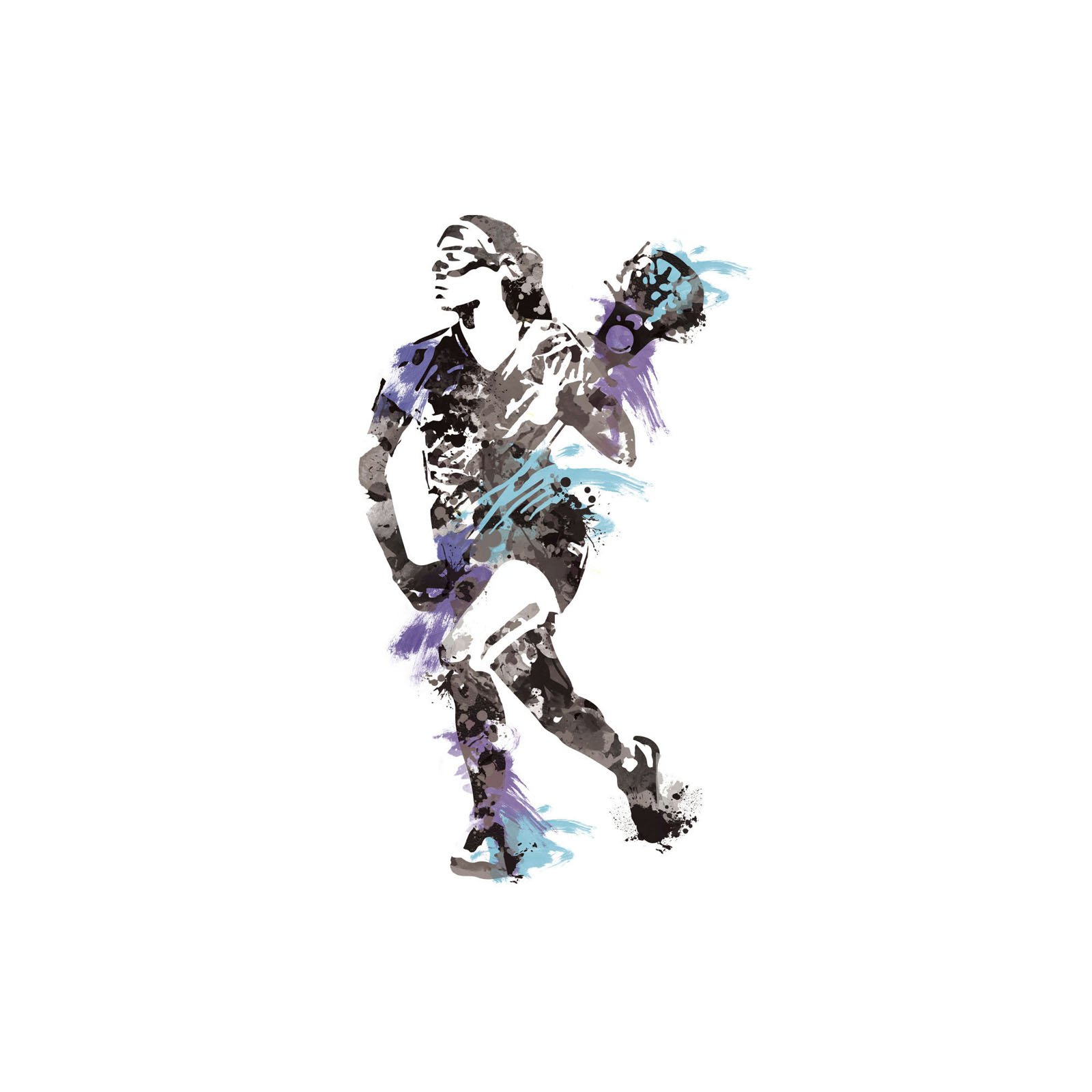 RoomMates Women's Lacrosse Champion Peel and Stick Giant Wall Decals by RoomMates