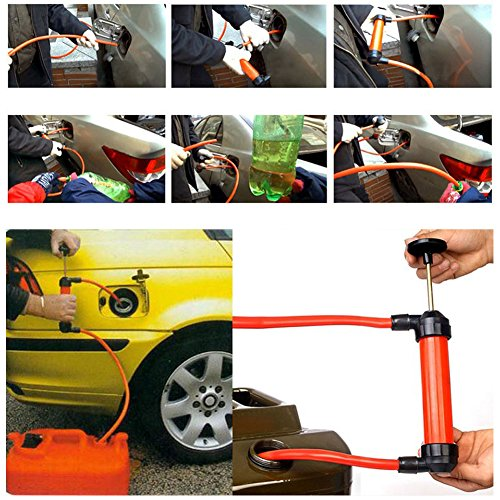 Awakingdemi Car Manual Hand Siphon Pump ,Portable Manual Oil Pump Siphon Tube Car Hose Liquid Gas Transfer Sucker by Awakingdemi (Image #1)