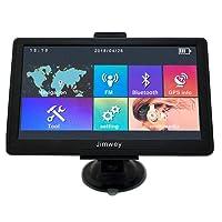 GPS Navi Navigation für Auto LKW PKW KFZ Bluetooth Navigationssysteme 7 Zoll mit Lebenslang Kostenlosem Kartenupdate POI Blitzerwarnungen Sprachführung Fahrspurassistent 2018 EU UK 52 Karten für Europa Traffic-Jimwey