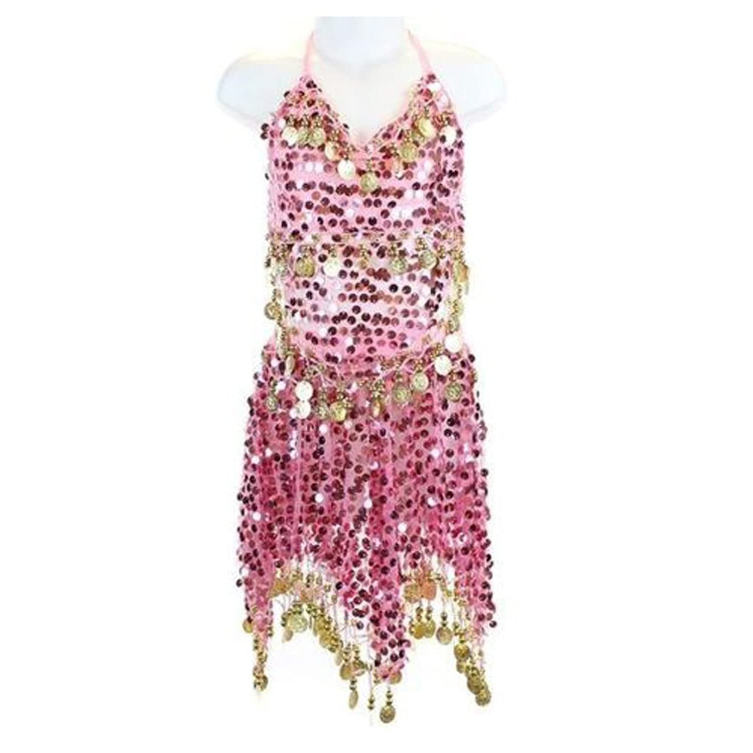 50 Off Pilot Trade Kid S Belly Dance Costume Girls Sparkly Circle