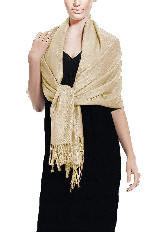 Peach Couture Donna Elegante 183 x 69 cm Sciarpa di Colore Solido Pashmina Scialle Stola Foulard Vestaglietta