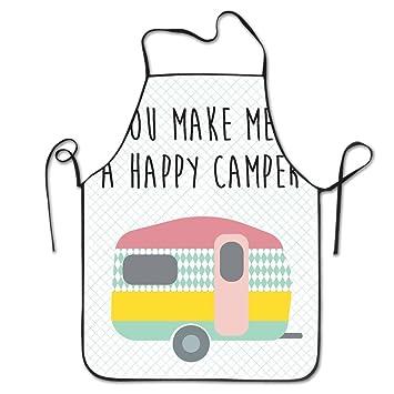 Happy Camper babero Delantal para Mujeres y Hombres - Correa ...
