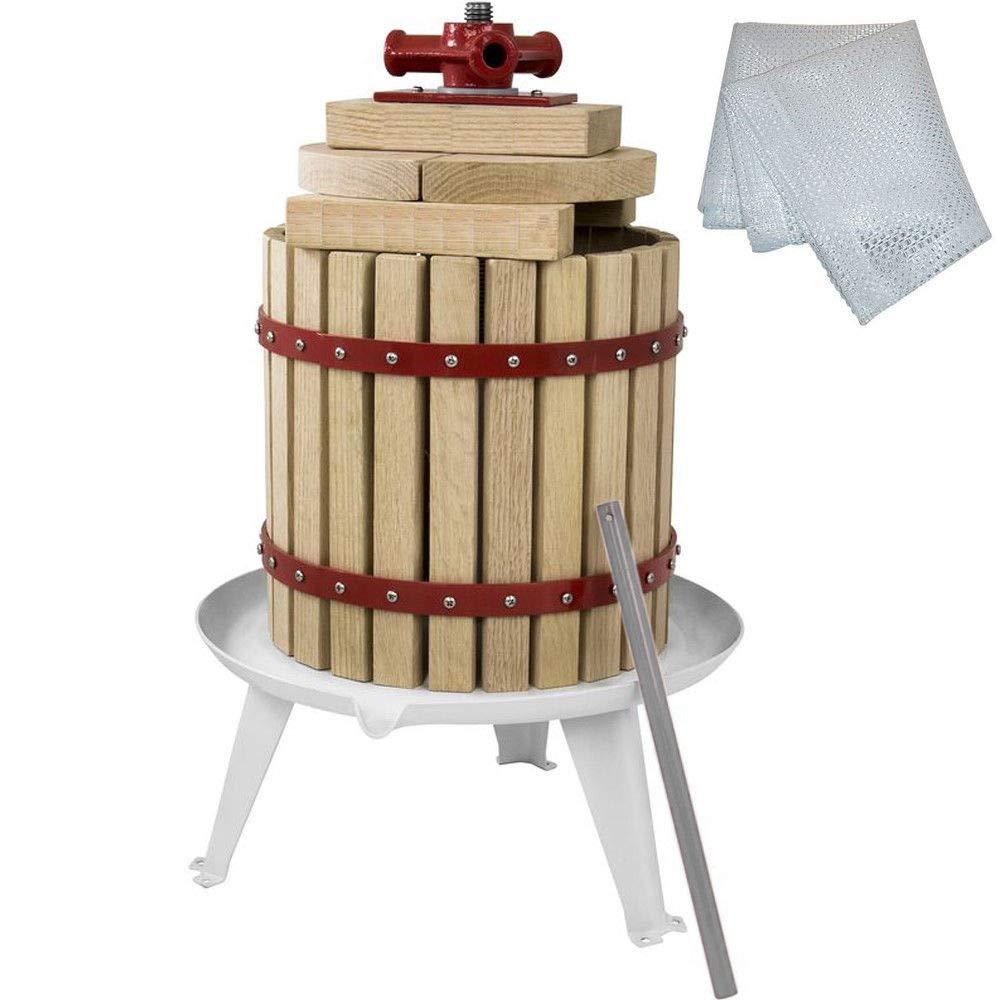 Systafex Obstpresse 12L Saftpresse Weinpresse Beerenpresse Spindelpresse mechanische Presse mit Pressnetz