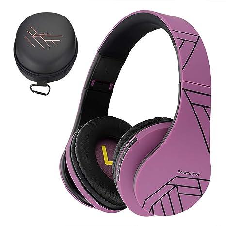 PowerLocus P2 – Auriculares Bluetooth inalambricos de Diadema Cascos Plegables, Casco Bluetooth con Sonido Estéreo