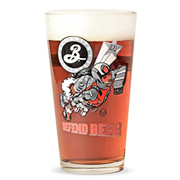 b9832a28 Brooklyn Brewery Defend Beer Pint Glass: Amazon.co.uk: Kitchen & Home