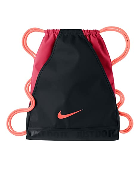 43cbb9f716d85 Buy Nike Varsity Gymsack DS Bag Black Fusion Red Atomic Pink Online at Low  Prices in India - Amazon.in