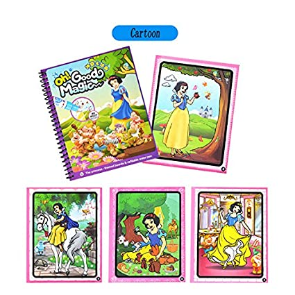 Amazon.com: Cartoon water Coloring Book with water pen for Kids ...