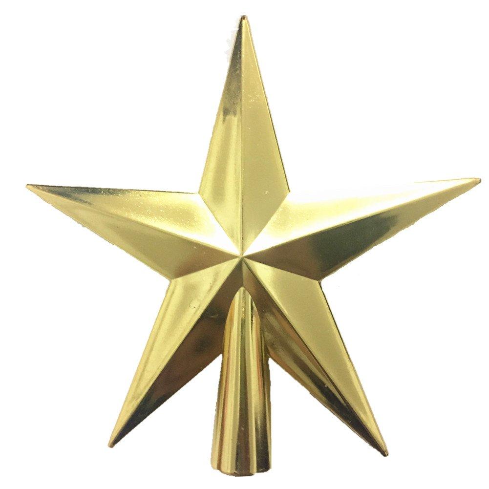 4 inch Christmas Tree Topper Glitter Star Xmas Decorative Ornament (4 inch, Golden)