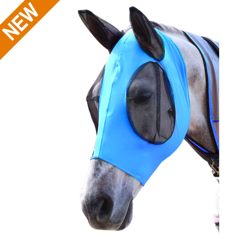 indreamy Crusader Fly Mask, Double Piping Ear Net Fly Veil Mask by indreamy