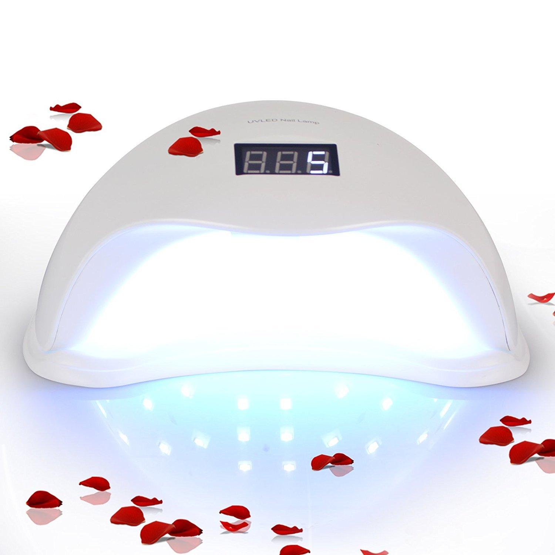 48w UV LED Nail Lamp , Lightimetunnel Gel Nail Dryer with 4 Timer setting Sensor and Digital Display for Hands and Feet Lightimetunnel-48W-HJQ