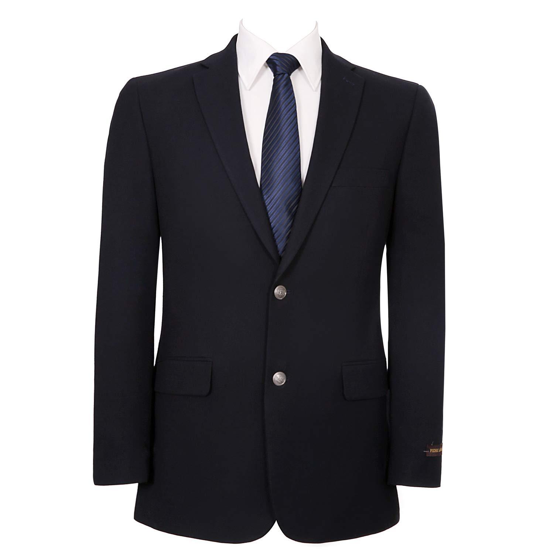 Pio Lorenzo Men's Classic Fit 2 Button Blazer Suit Separate Jacket Navy by Pio Lorenzo
