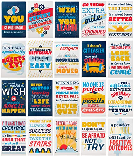 (Juvale Motivational Posters - 20-Pack Inspirational Posters, Posters with Inspiring Quotes, Vibrant Design, Perfect for School, Classroom and Office Decoration, 13 x 19 Inches (Vibrant Design))