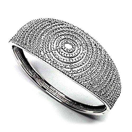 Bracelet plaqué 925m bracelet en argent rhodié Loi de zircone cubique [AB0926]