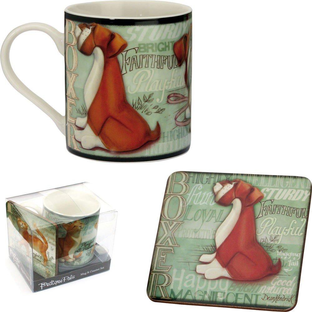 Boxer 8301 Mug & Coaster Set - My Pedigree Pals By Arora Design