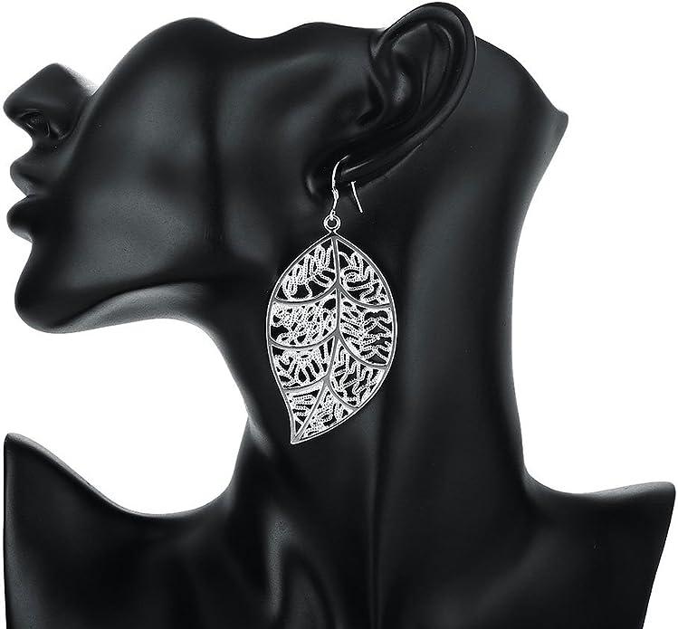 Il gancio placcato argento di Qian Mu ciondola gli orecchini di torsione di goccia per le donne Gioielli
