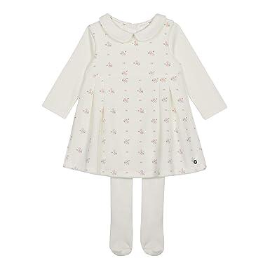 874e345668 Debenhams Baby Girls  Off White Floral Print Velour Pinafore