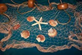 Fishing Net, 6 X 9 Ft Fish Net, Netting Shells, Starfish, Floats Decorative Nautical Decor Display, Outdoor Stuffs