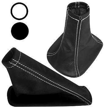 Satz Schaltsack Aerzetix Handbremssack Schwarze Farbe 100/% Leder Blau N/ähten