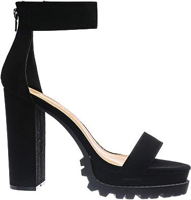 Lug Sole Chunky Heel Sandal