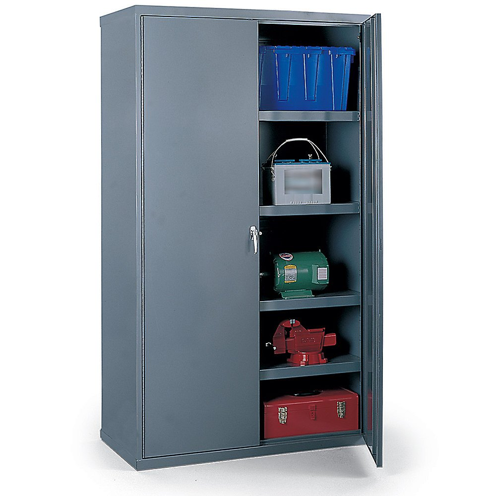 "B000L9OH8Q Edsal VC1500G Vault Storage Cabinet, Assembled, 2 Shelves, 1000 lb. Capacity, 36"" W x 18"" D x 48"" H, Industrial Gray 6112BzoleZLL._SL1000_"