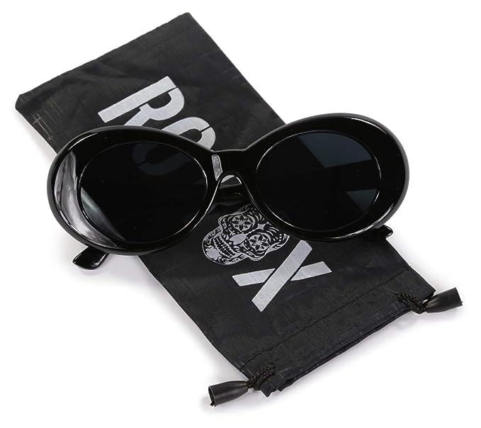 7bed6200b3 Ro Rox Gafas de Sol Clout Kurt Cobain Retro Grunge (Negro - Negro ...
